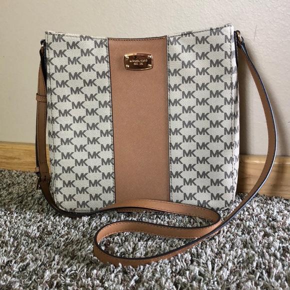 8a5a9f6c328b31 Michael Kors Bags   Sale Center Stripe Messenger   Poshmark